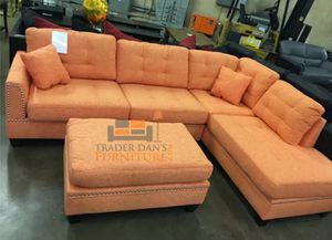 Brand new sectional sofa with ottoman (final price) for Sale in Silver Spring, MD