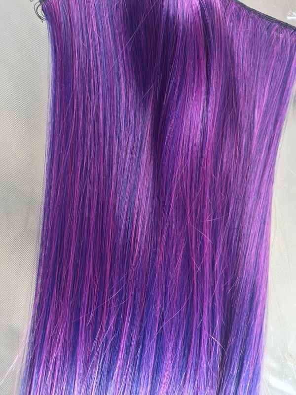 Ombre Purple And Blue Clip In Hair Extensions 24 Beauty Health