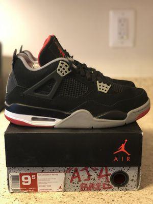 "Air Jordan Retro 4 ""Breds"" SZ 9.5 for Sale in Silver Spring, MD"