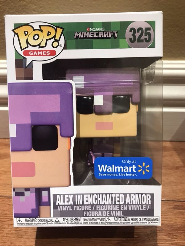 Funko POP! Minecraft Alex in Enchanted Armor Walmart Exclusive for ...