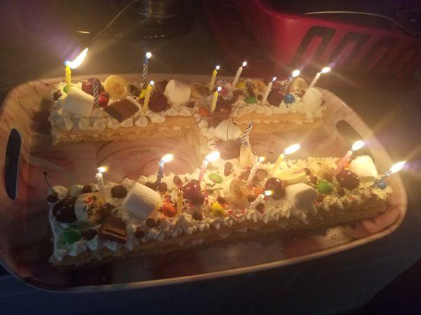 Tremendous Birthday Cake Letters For Sale In Houston Tx Offerup Personalised Birthday Cards Veneteletsinfo