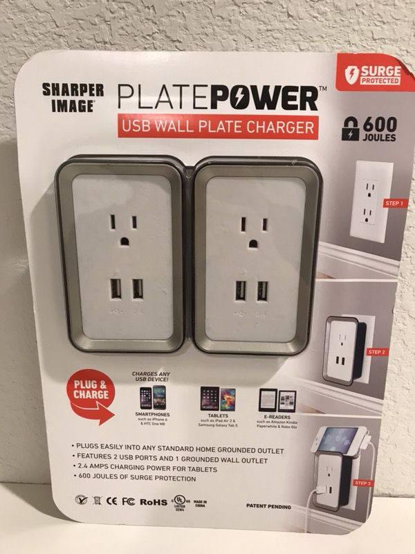 Sharper Image Usb Wall Plate Charger For Sale In Houston Tx Offerup