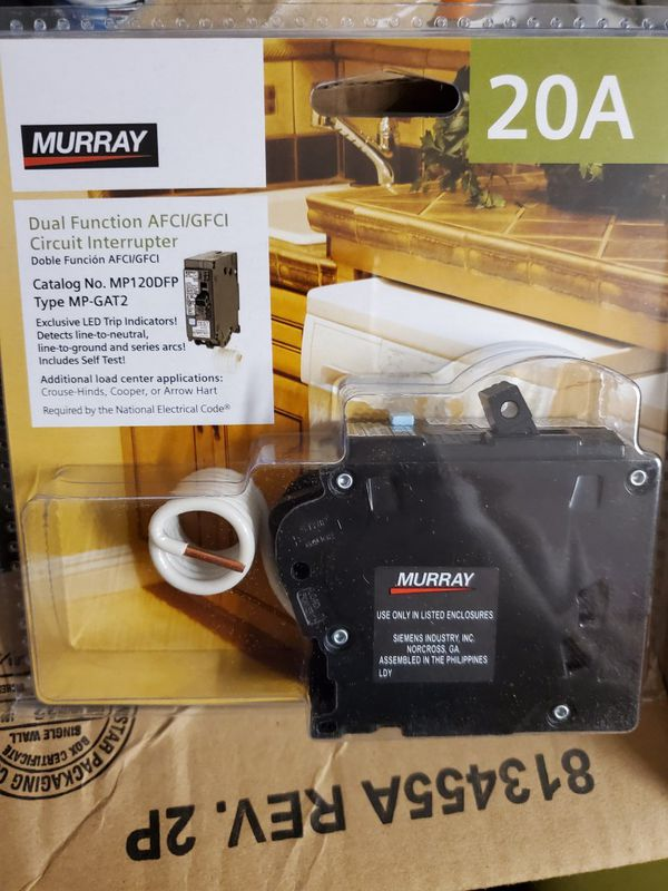 Murray 20 Amp Afci  Gfci Dual Function Circuit Breaker For Sale In Laveen Village  Az