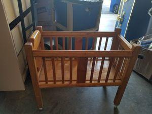 Wooden doll crib for Sale in Richmond, VA