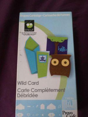 Photo Cricut cartridge- wild card