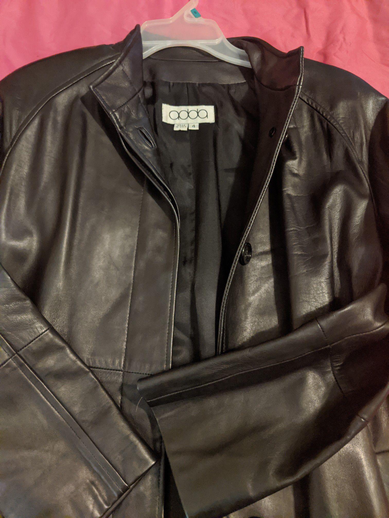 Size 4 Adda soft leather coat.
