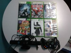 Xbox 360 Kinect Camera, Games, and Wired controller for Sale in Washington, DC