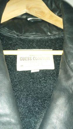 Men's Guess Leather Jacket Thumbnail