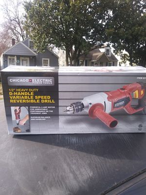 Photo Chicago Electric D handle heavy duty drill new in the box for my price