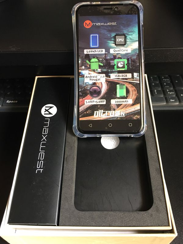 Unlocked Maxwest Nitro 5N Android 8gb memory 5MP Camera 4GLTE Smartphone  for Sale in Providence, RI - OfferUp