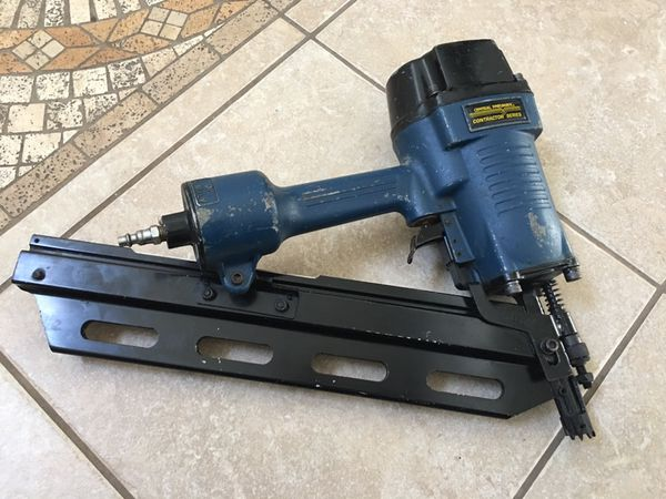 Central Pneumatic Contractor Series 28 degree Air Framing Nailer ...