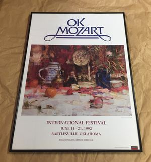 OK Mozart Poster, used for sale  Tulsa, OK