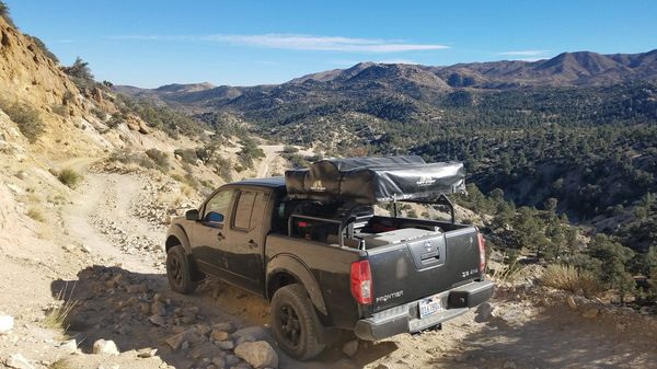Roof Top Tent With Truck Bed Rack Fits Nissan Frontier