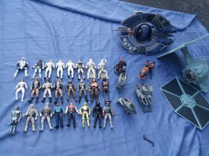 24 Star wars Figures 2 Ships for Sale in Columbus, OH