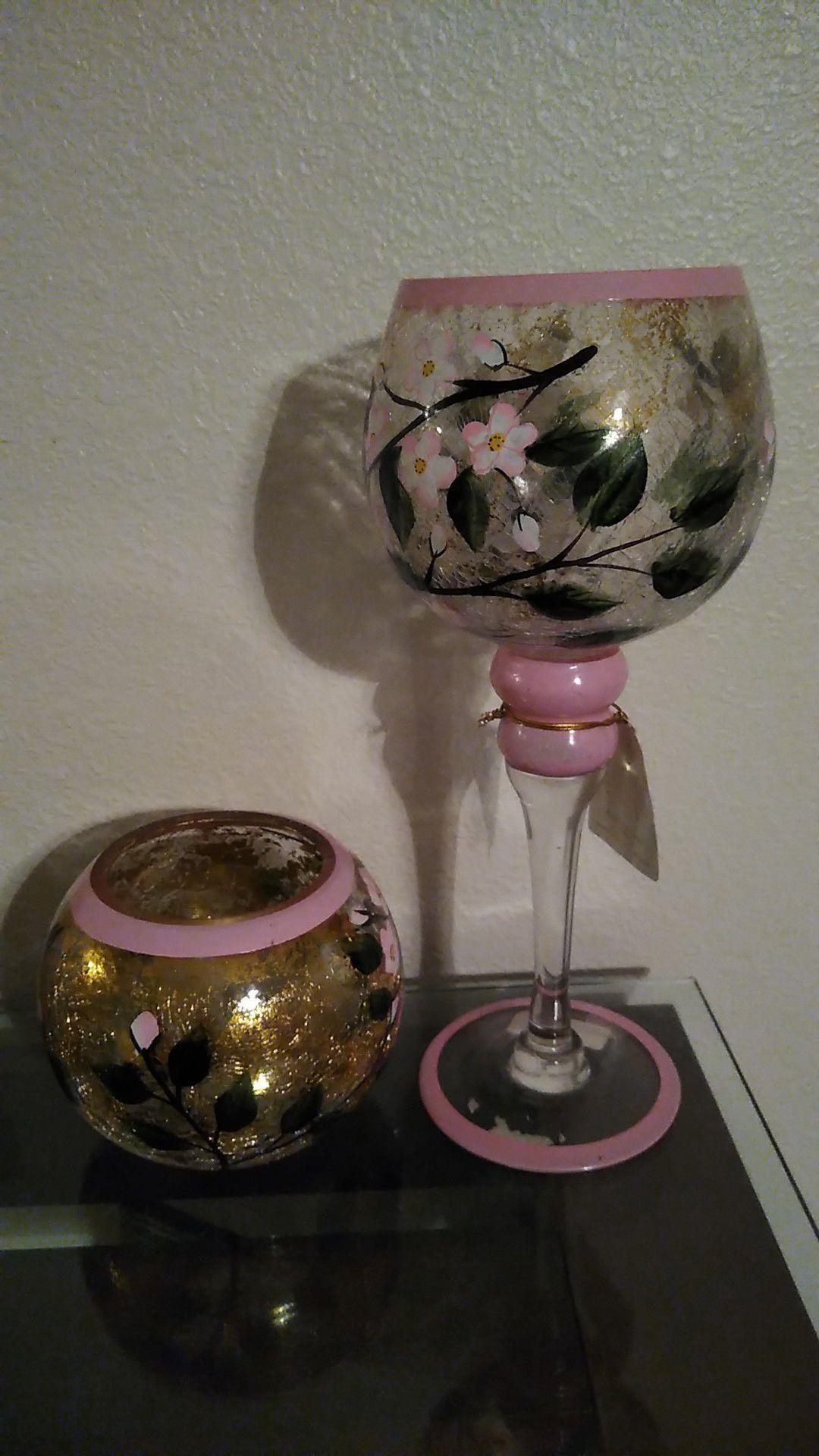 Glass decor set