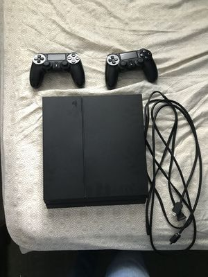 PS 4 500Gb with 2 controllers, Star Wars game in system already also comes with Power cord and HDMI cord! for Sale in Falls Church, VA