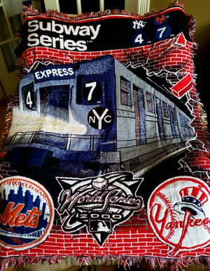 Met & Yankee Subway Series Throw Blanket for Sale in Middle Island, NY