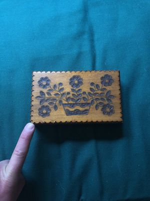 Vintage hand carved wood box for Sale in Chapel Hill, NC