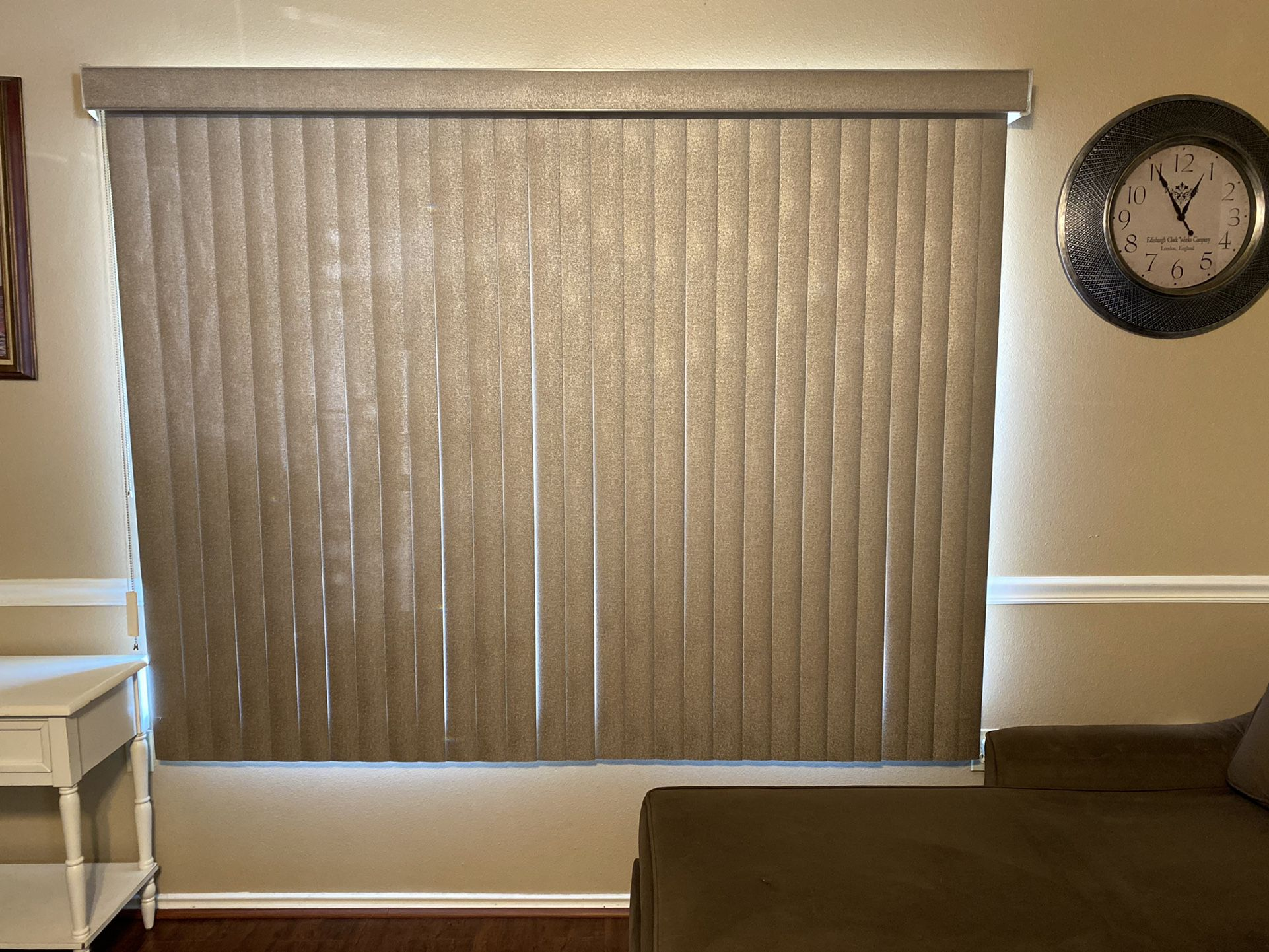 2 Large 58X34 Champagne Vertical Window Blinds