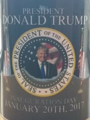 Seal of The President of the United States Donald Trump Inauguration Day January 20th 2017 Coffee Mug Glass for Sale in El Paso, TX