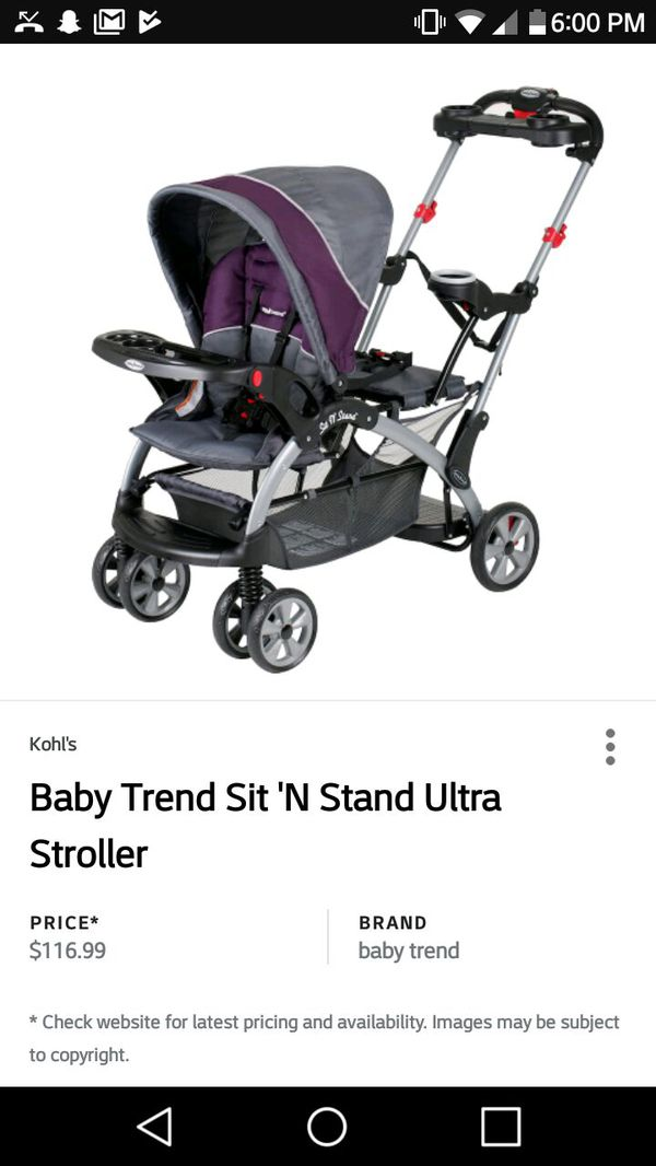 Baby Trend Sit And Stand Stroller For Sale In Absecon Nj Offerup
