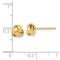 14K Yellow Gold Gold Polished Love Knot Post Earrings Thumbnail