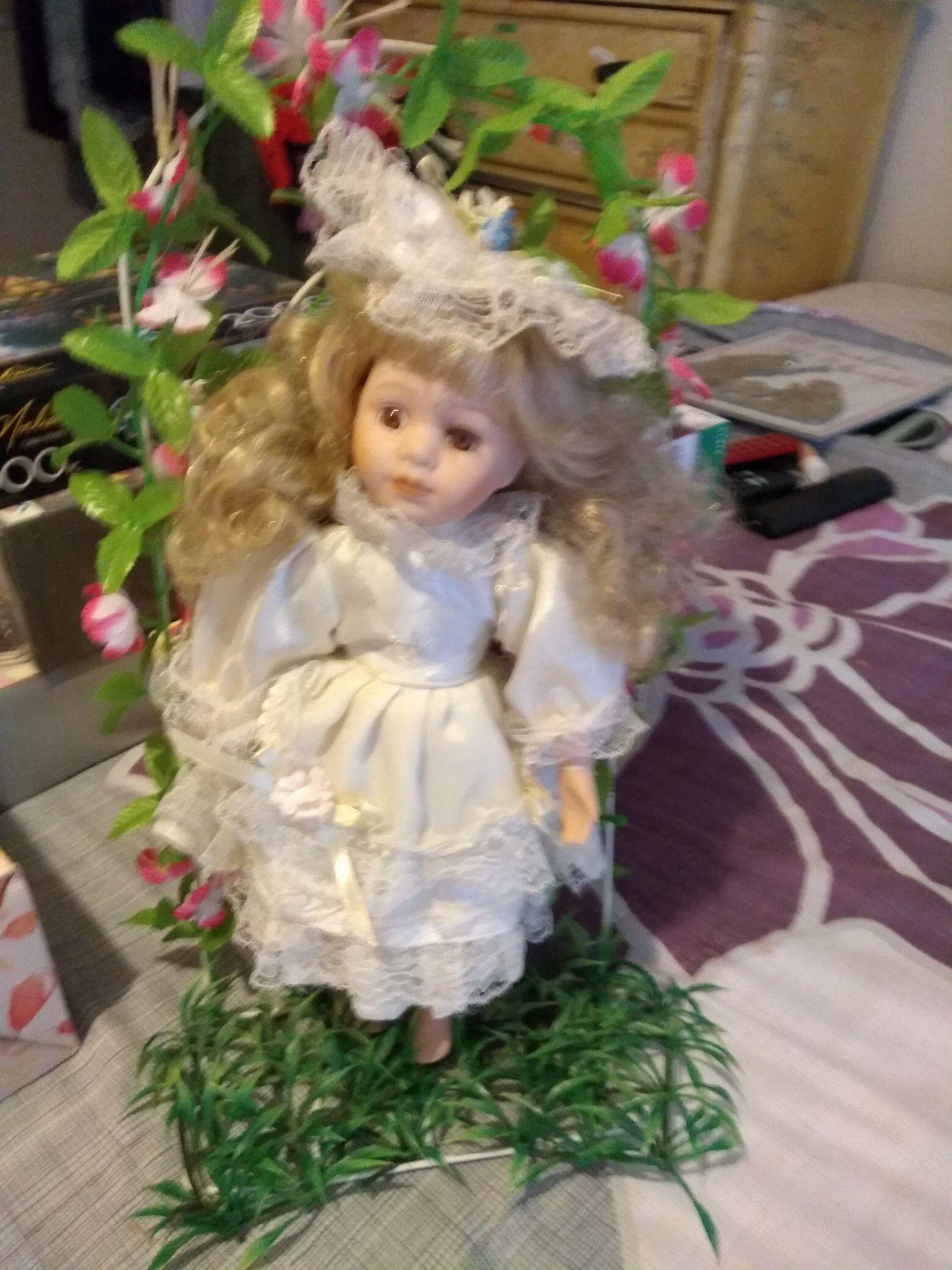 Garden Angel Procelian Doll