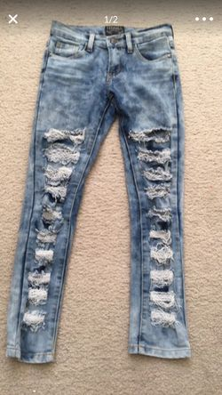 Girls size 10 ripped jeans-excellent condition Thrill brand Thumbnail