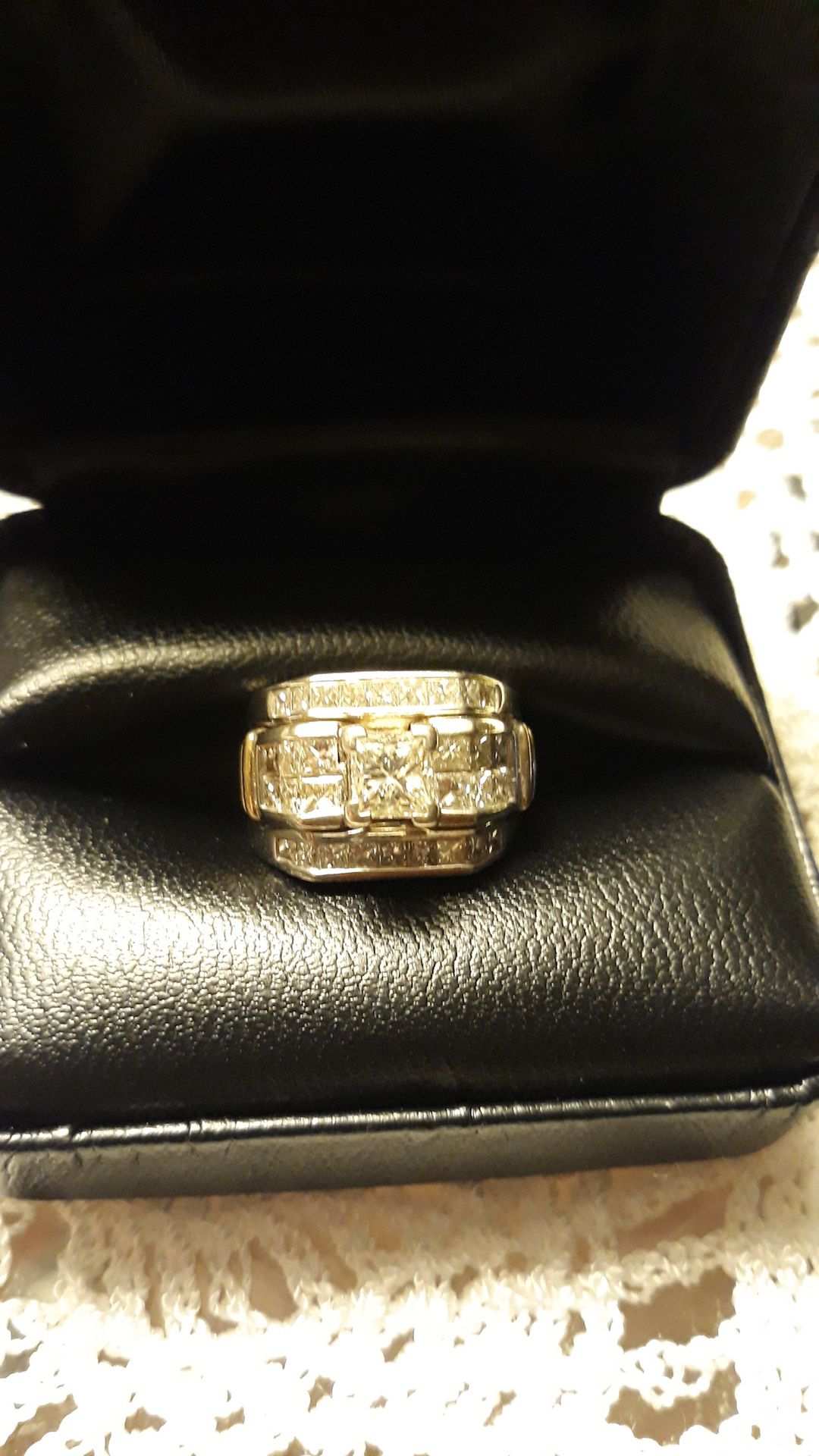 Beautiful princess diamond ring.