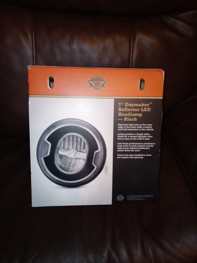 Photo Brand New Harley Davidson 7in refector led headlamp obo