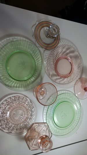 lot of vintage collectible depression glass for Sale in Scottsdale, AZ
