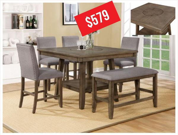 Manning Rustic Brown Counter Height Dining Set For In Houston Tx Offerup