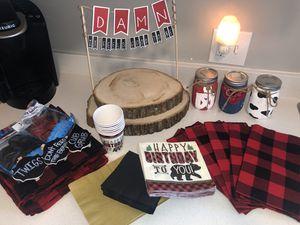Lumberjack Birthday Party Decor for Sale in Yucaipa, CA