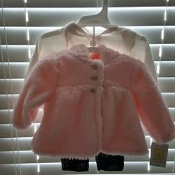 Outfit Size 3 Months, Onesie,Pants,Coat To Match Thumbnail