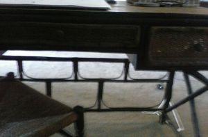 Black and brown Rattan desk for Sale in Richmond, VA