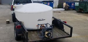 TILT TRAILER 500 gallons WATER &Water Pump for Sale in Washington, DC