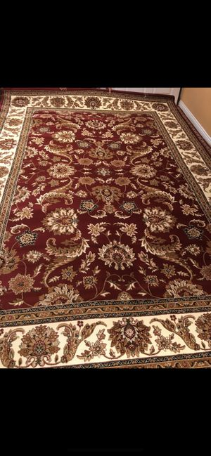 Brand traditional design rug size 8x11 nice red carpet Persian style rugs for Sale in Springfield, VA