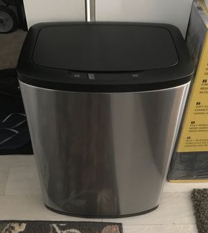 [1 PPU] Simple Human Like Stainless Steel Motion Sensor 13-Gallon Trash Can (Basically New: Used for <1 Wk) for Sale in Washington, DC