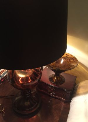 Antique lamp and bowl for Sale in Bethlehem, PA