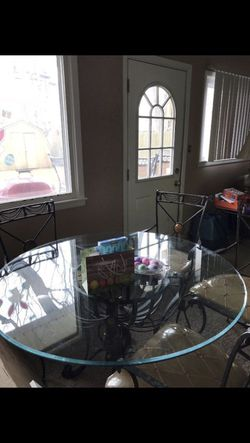 Table and chairs with matching buffet Thumbnail