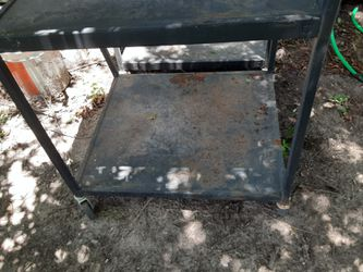 Metal Rolling Cart with Electrical Strip Thumbnail