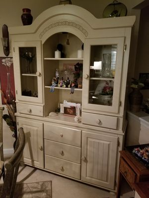 Beautiful white wood china for Sale in Centreville, VA