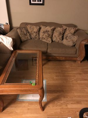 Sofa, matching love seat and table free! for Sale in Alexandria, VA