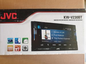 Photo JVC KW-V230BT 2DIN Car DVD/CD Player 6.2 LCD Spotify Pandora Bluetooth SiriusXM Brand New