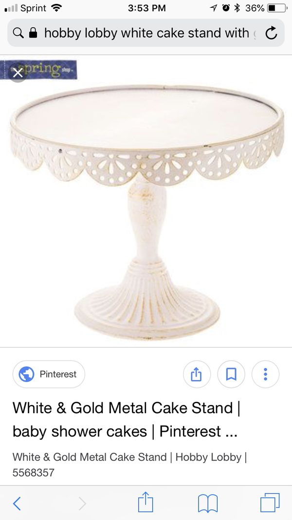 White Gold Cake Stand For Sale In Lakewood Wa Offerup