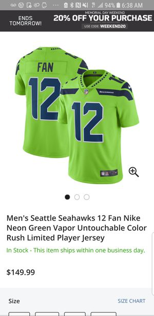 540d6458078576 ... usa mens seattle seahawks 12 fan nike neon green vapor untouchable  color rush limited player jersey