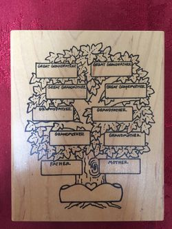Family Tree Rubber Stamp Thumbnail