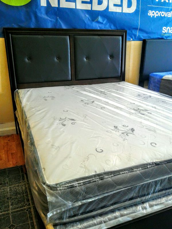 Queen bed frame + mattress set for Sale in Cranston, RI - OfferUp