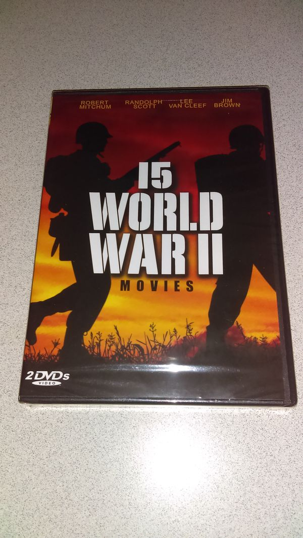 15 WORLD WAR 2 MOVIES 2 DVD SET NEW FACTORY SEALED