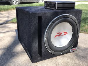 Photo 12 inch Sub Alpine Type R with box and amp
